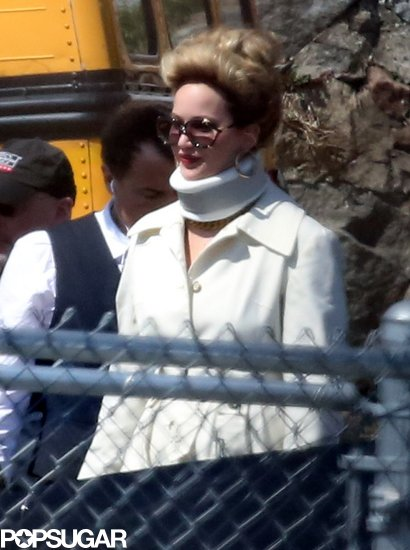 Jennifer Lawrence Sports a Neck Brace While Filming in Boston