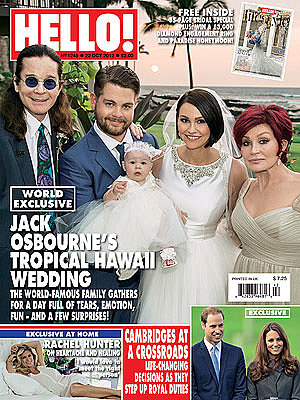 Jack Osbourne and Lisa Stelly were surrounded by family, including their daughter, Pearl, for their October 2012 wedding in Hawaii.