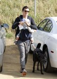 Orlando Bloom took his son, Flynn, and his dog, Sidi, for a recreational hike in LA in March 2012. He adopted Sidi when he was shooting Kingdom of Heaven on location in Morocco.