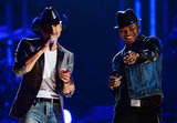 Tim McGraw took the stage with Ne-Yo.