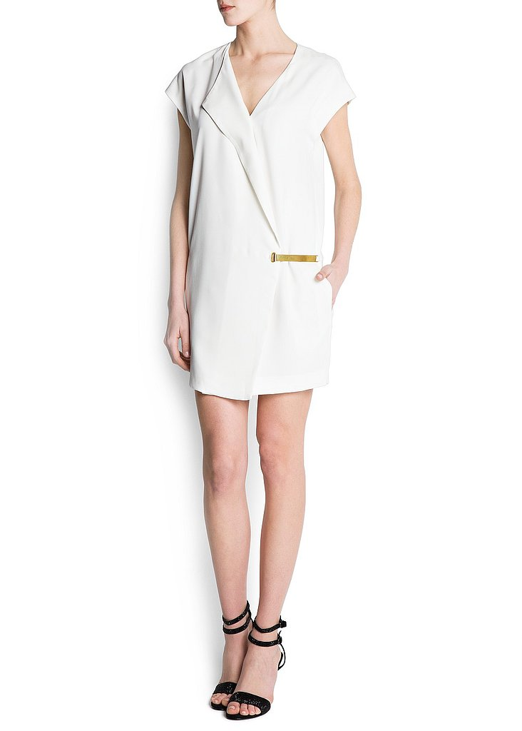 We love the asymmetrical cut and kimono-inspired feel of this Mango Metal Plate Dress ($100).