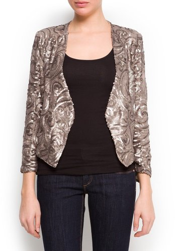 Sequined asymmetric blazer