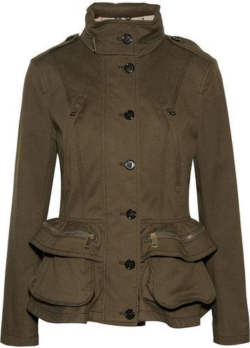 Burberry Brit Cotton-blend peplum jacket