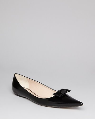 Marc Jacobs Tuxedo Bow Flats - Pointy Toe