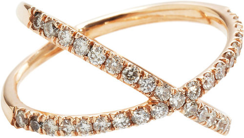 Eva Fehren Champagne Diamond Shorty Ring