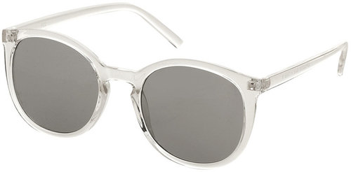 Preppy Clear Round Sunglasses