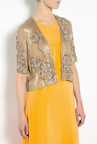 Tucker Gold Sequin Embroidered Cropped Jacket