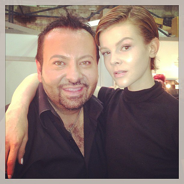 Napoleon Perdis took a pic with model Ruby-Jean Wilson before the Ellery runway. Source: Instagram user napoleonperdis