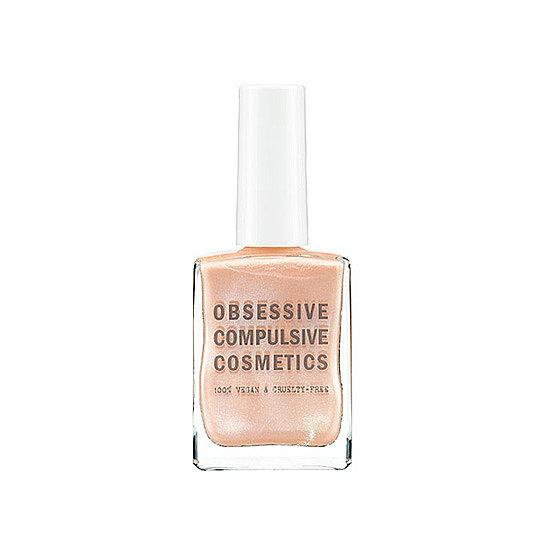 The sheer beige tint of Obsessive Compulsive Cosmetics Nail Lacquer in Kava Kava ($10) has a nice pearlescent sheen to it for a dressier nude nail.