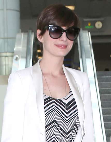 Anne and Adam Land in LA Ahead of the MTV Movie Awards