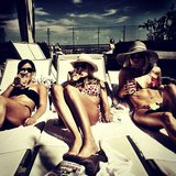 Julianne Hough relaxed in a bikini with her girlfriends. Source: Instagram user juleshough