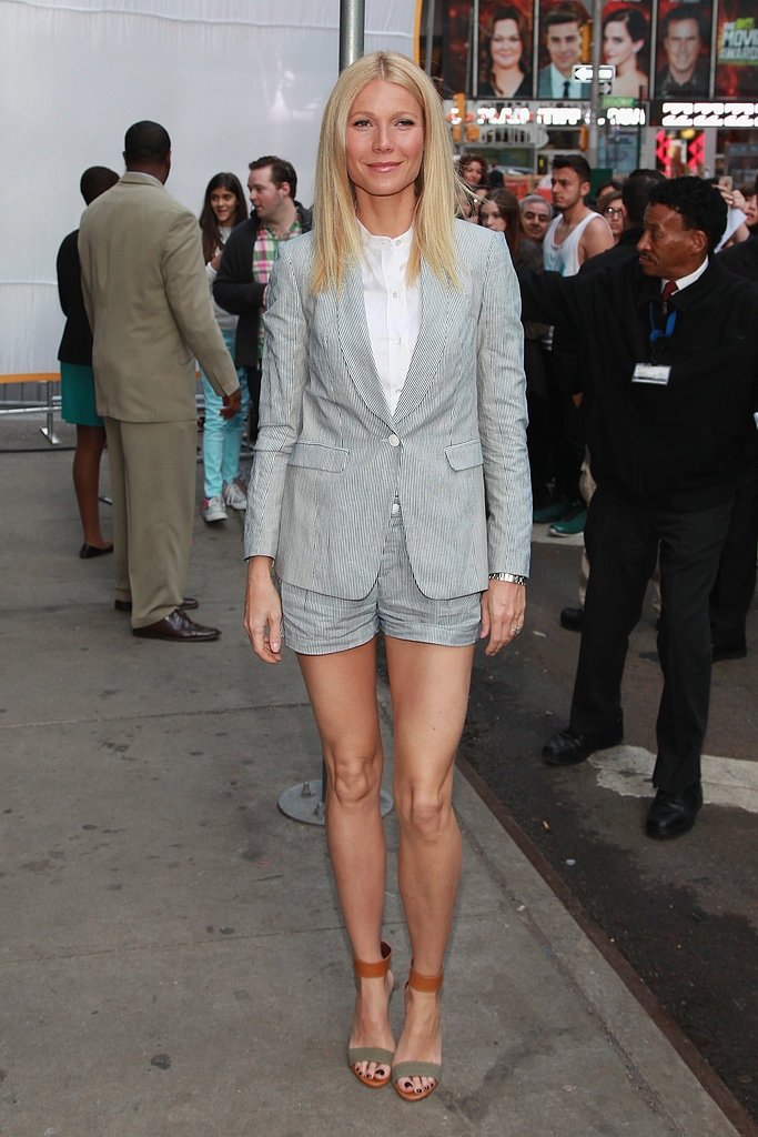"Gwyneth Goes Preppy and Chic For a GMA Appearance With ""Bestie"" Demi"