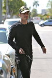 Orlando Bloom made his way to his car in LA on Wednesday.