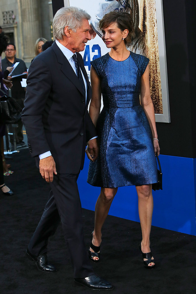 Calista Flockhart accompanied Harrison Ford to the premiere of 42 in LA.