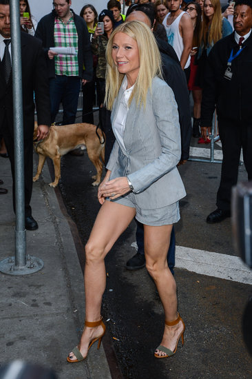 Gwyneth Paltrow arrived at Good Morning America in NYC.
