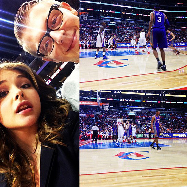 Chloë Moretz checked out an LA Clippers game with her brother Ethan. Source: Instagram user cmoretz