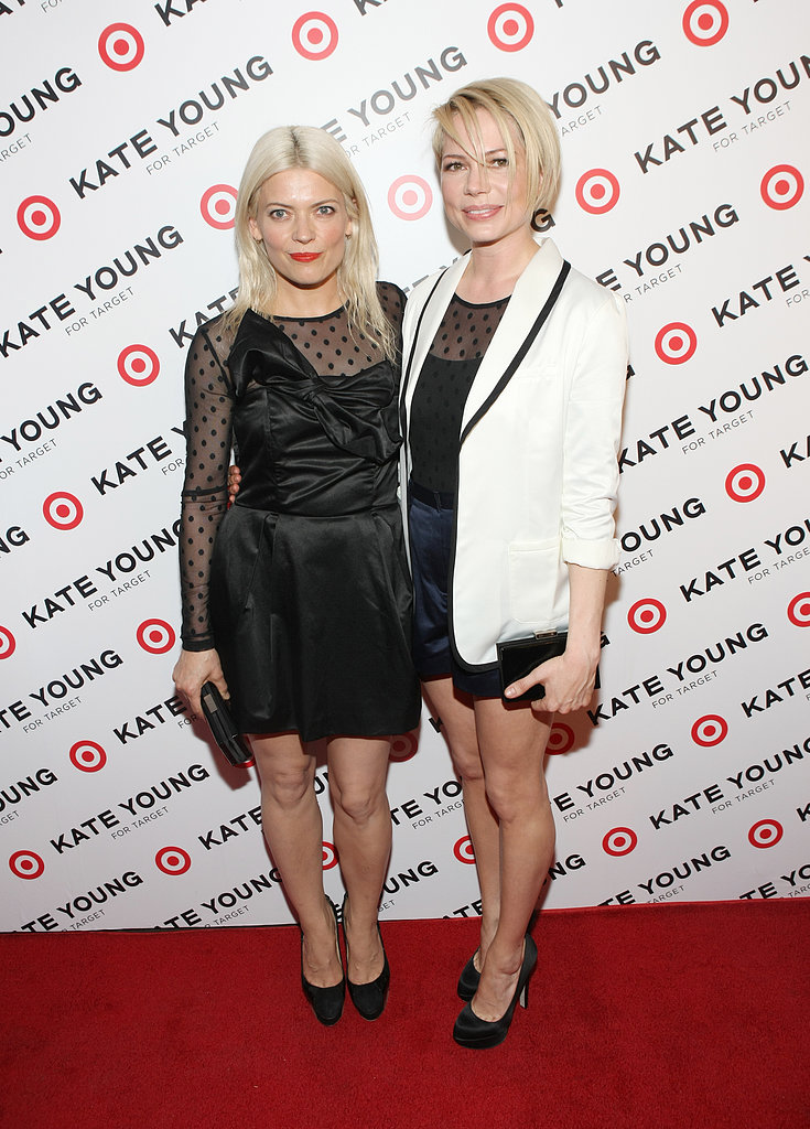 Michelle Williams posed with stylist Kate Young on the red carpet.