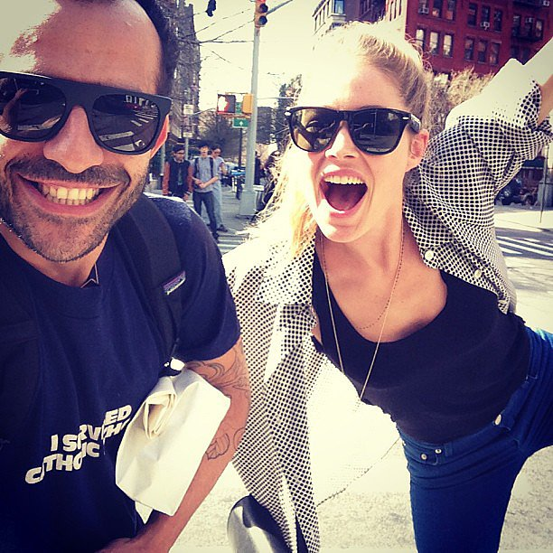 Doutzen Kroes enjoyed the NYC sunshine with a friend. Source: Instagram user doutzenkroes1