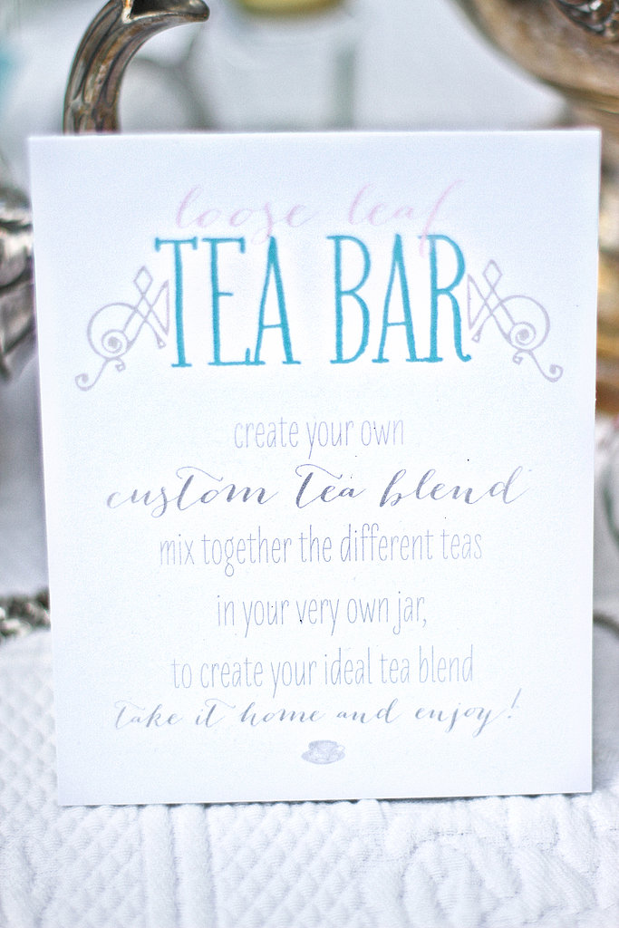 A Modern Take on the Tea Bar