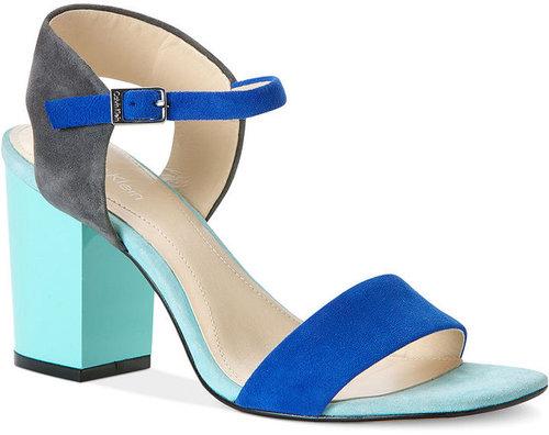 Calvin Klein Women's Shoes, Verla Mid Heel Sandals