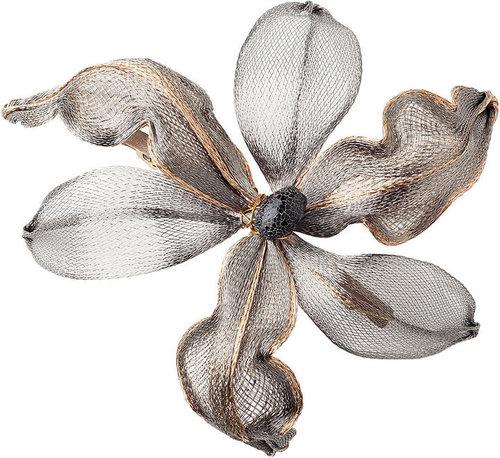 Colette Malouf Layered Mesh Orchid Barrette, 10cm 1 ea
