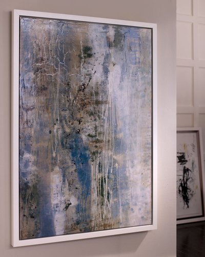 """""""Dusted Blue"""" Abstract Giclee"""