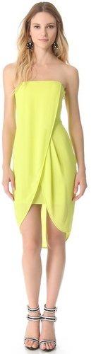 Bcbgmaxazria Strapless Drape Dress