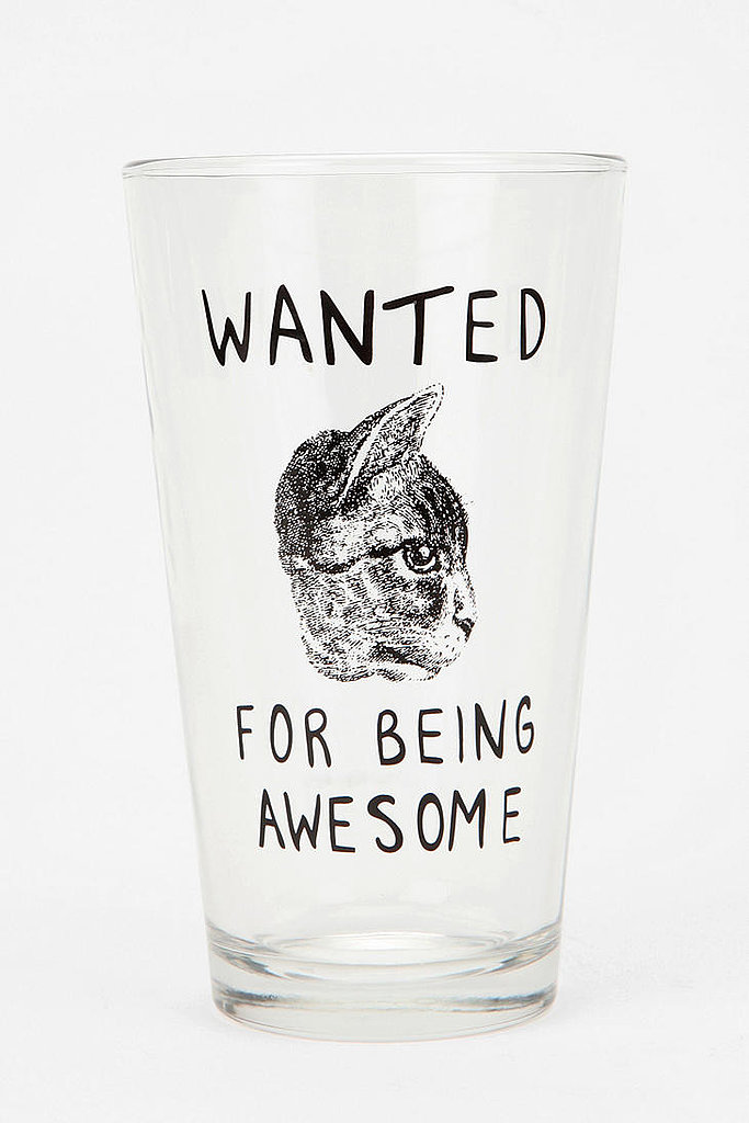 Wanted Cat Pint Glass ($8)