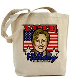 Hillary Clinton for president tote bag ($15)