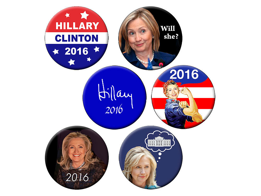 Hillary Clinton for president in 2016 magnet ($4)