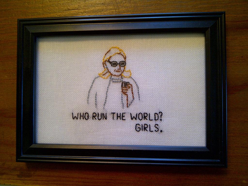 Hillary Clinton Tumblr needlepoint ($20)