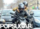 Bradley Cooper and Suki Waterhouse explored Paris via motorcycle.
