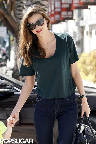 Miranda Kerr smiled in LA amid Victoria's Secret rumors.