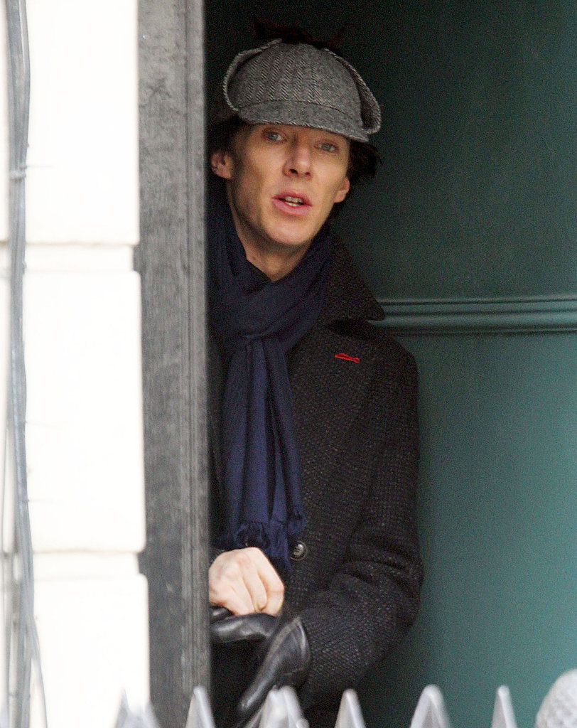 Benedict and Martin on the Set of Sherlock Season 3