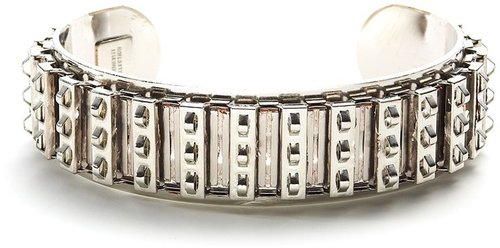 Courtney Lee Silver Studded Gear Cuff