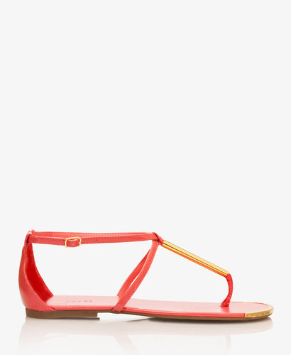 FOREVER 21 Metal-Trimmed Thong Sandals