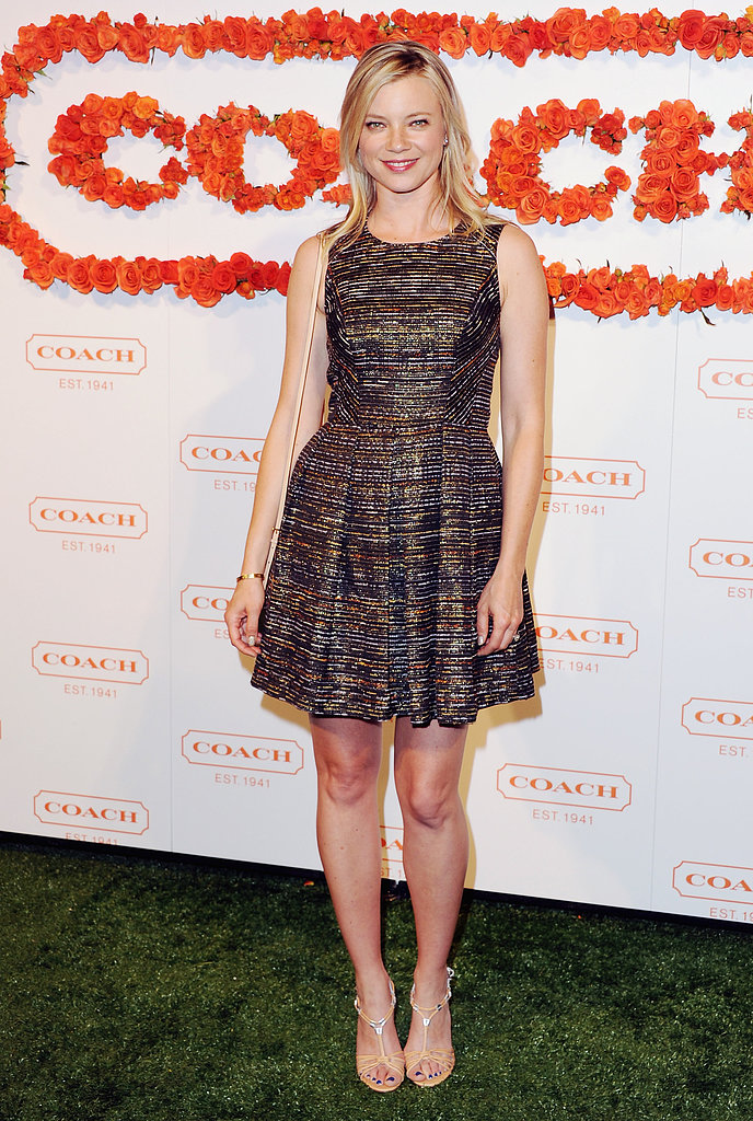Amy Smart at Coach's third annual Evening of Cocktails and Shopping in Santa Monica.