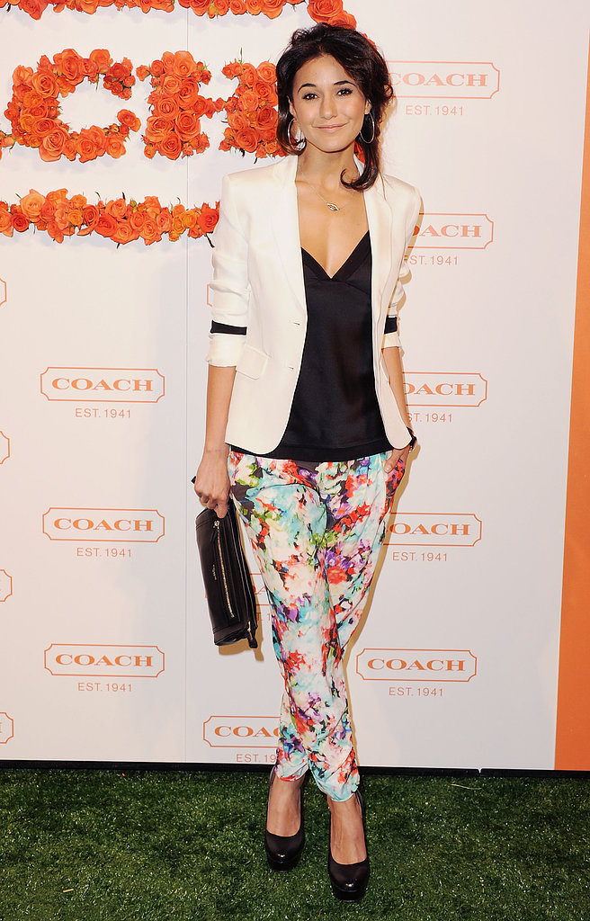 Emmanuelle Chriqui at Coach's third annual Evening of Cocktails and Shopping in Santa Monica.