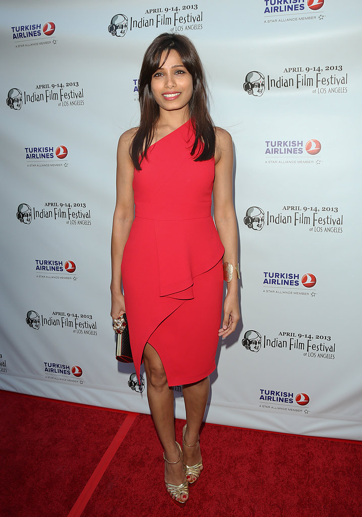 Freida Pinto wore Spring 2013 Rachel Roy at the Indian Film Festival of Los Angeles's Opening Night Gala in Hollywood.