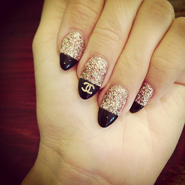 Of her Chanel-logo nails, Ashley Tisdale noted that while they took forever to get, they were well worth it in the end. Source: Instagram user ashleytis
