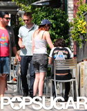 Kristen Stewart and Robert Pattinson went to sushi with friends in LA.