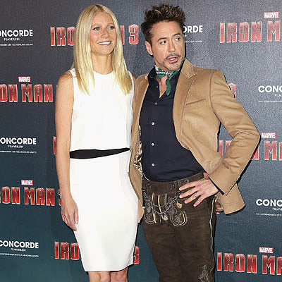 Gwyneth Paltrow & Robert Down Jr In Munich For Iron Man 3