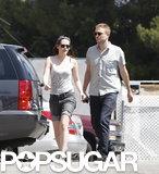 Robert Pattinson and Kristen Stewart went to lunch at En Sushi.