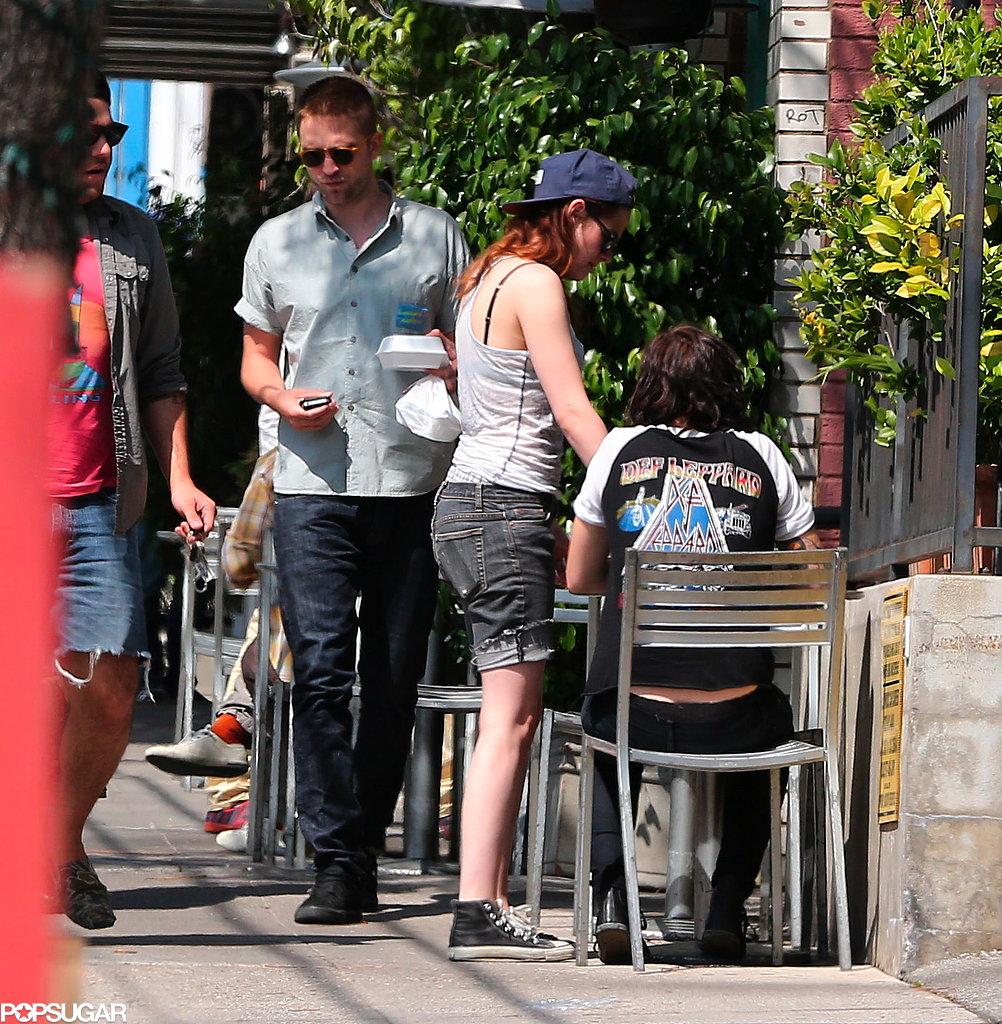 Robert Pattinson and Kristen Stewart left a sushi restaurant in LA.