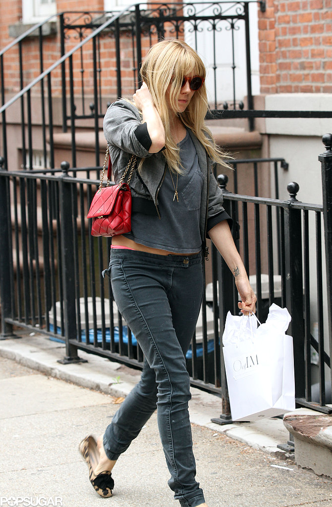 Sienna Miller Shops in Manhattan Wearing a Spring-Ready Crop Top
