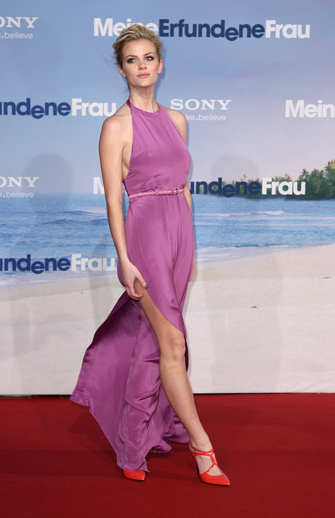 Brooklyn practically floated down the red carpet in a breezy halter jumpsuit at the 2011 premiere of Just Go With It in Berlin.