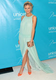 Brooklyn had a Grecian-goddess moment in a mint-hued Tory Burch gown at the 2011 UNICEF Ball.