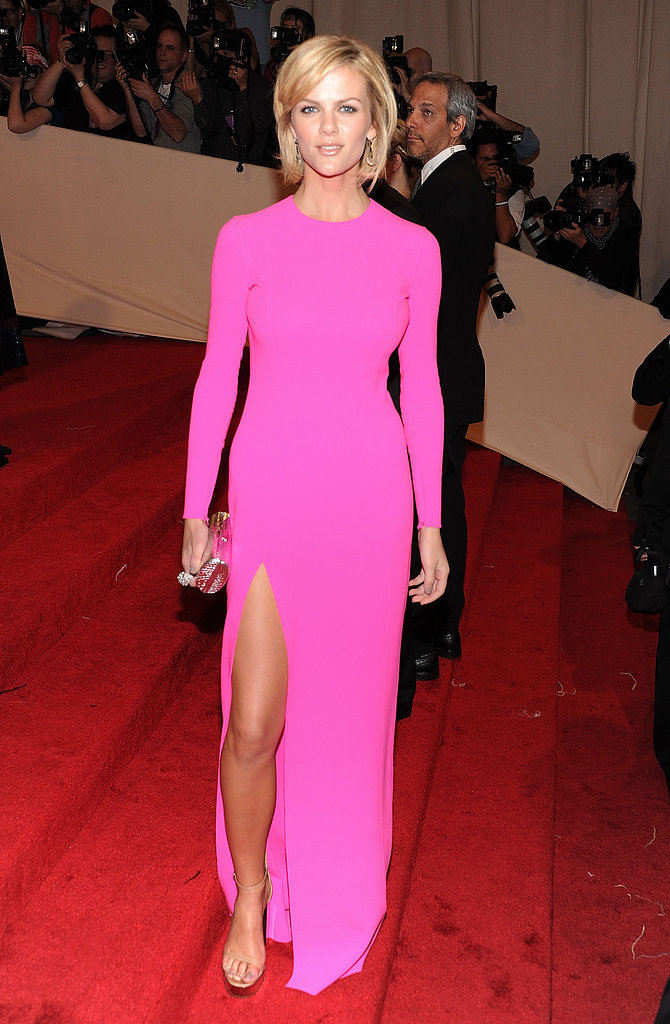 Brooklyn turned heads in a high-wattage-hued Michael Kors gown at the 2011 Met Gala.