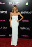 Brooklyn donned a minimalist Calvin Klein strapless for the What to Expect When You're Expecting screening in NYC.