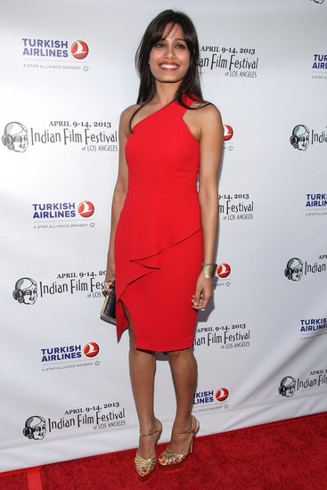Freida Pinto had a knockout moment in a bright, one-shouldered Rachel Roy sheath at the Indian Film Festival in LA.